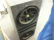 "KICKER Car Speakers/Speaker System DUAL 12"" SUBS WITH BOX"
